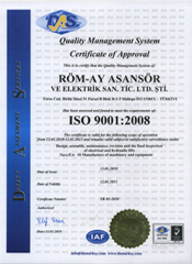 ISO9001 Belgesi (English)